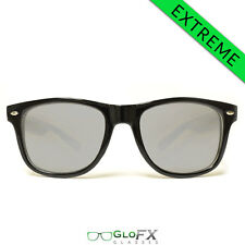 GloFX Ultimate EXTREME Diffraction Glasses – Black Tinted Festival Light Show