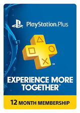 Sony Playstation Plus 12 month (1 Year) Subscription USA PSN Store - PS4 PS3 PSV
