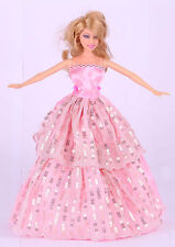 New Fashion Handmade Pink The original soft clothes dress for barbies doll 44