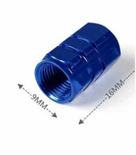 4x Aluminum BLUE Wheel Tyre Tire Valve Stems Air Dust Caps Cover for Car Bike