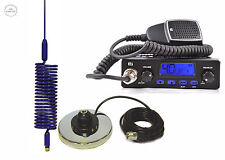 RADIO CB + ANTENNA CB Mini Springer BLU + magnetico calamita base 27