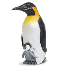 Safari Ltd. 267129 Emperor Penguin with Baby Toy Hand Painted Figurine - NIP