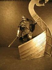lead soldier,Viking on the boat,unpainted,hand made,collectable,rare