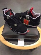 nike air jordan 4 bred black/cement grey/red  2012 brand new  uk 7.5   usa 8.5