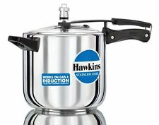 Hawkins Stainless Steel Pressure Cooker, 6 Ltr   With Vat Paid Bill 5yr warranty