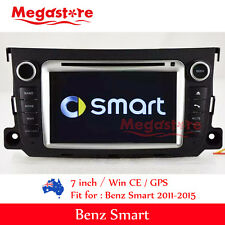"7"" Car DVD GPS Player Stereo For Smart 2011-2015"