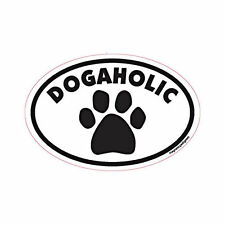 Dogaholic Oval Euro Style Car Dog Magnet