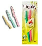 TINKLE IS  BACK.....New lady's love 3PCS Pro Eyebrow Razor Trimmer Shaper Shaver