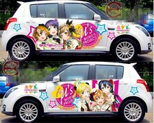 Cute Manga Anime Girl Car Graphics Decal Vinyl Sticker Set Full Color Lovely