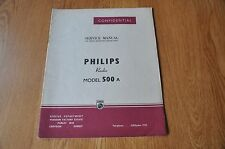 Philips Type 500A Radio Receiver Workshop Service Manual.