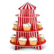 1 Fun Carnival Circus BIG TOP Tent Decoration Party CUPCAKE Holder Centerpiece