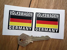 VOLKSWAGEN GERMANY German Flag Style Stickers 50mm Pair Helmet Race Car VW V-Dub