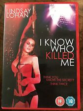 Lindsay Lohan Julia Ormond I KNOW WHO KILLED ME ~ 2007 Erotic Thriller  | UK DVD