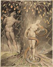 William Blake Temptation and Fall of Eve Fine Art Real Canvas Print