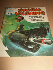 STORM WARNING No. 1545 BATTLE COMIC / BOOK ( FLEETWAY ) * UK FREEPOST *