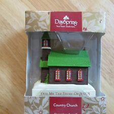 Dayspring Country Church Tree Ornament - Tell Me the Story of Jesus CB-2-101