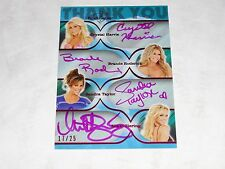 2011 Benchwarmer THANK YOU Quad Auto/25 HARRIS Roderick TAYLOR Ziering PLAYBOY