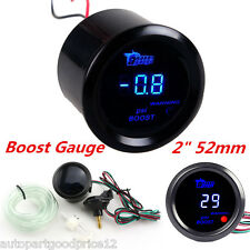 "2"" 52mm Black Cover Car Digital Blue LED PSI Turbo Boost Gauge Meter Universal"