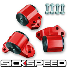 SICKSPEED 92-95 MOTOR MOUNTS KIT FOR D16 B16 B18 EG B-SERIES ENGINE RED