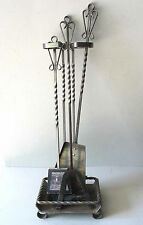FIREPLACE TOOLS 3 PIECE with Matching Stand Base  FREE SH