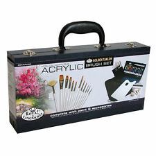 ARTISTS ACRYLIC BRUSH SET 31PC ART SET IN CARRY CASE BY ROYAL & LANGNICKEL