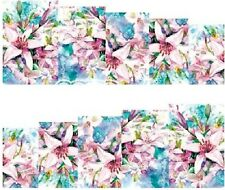 Nail Art Stickers Transfers Decals Pink Flowers (DA72)
