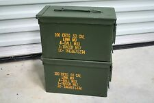 2 - US MILITARY SURPLUS M2A1 .50 CAL OR 5.56 AMMO CAN TOOL BOX PREPPING STORAGE