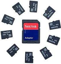 10 x 4GB SANDISK Micro SD Memory Card con Samsung/schede SD SanDisk