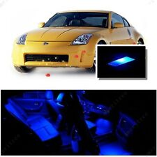 For Nissan 350Z 2003-2009 Blue LED Interior Kit + Blue License Light LED