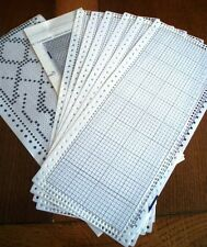6 x 24 Stitch New Blank Punchcards Numbered with Grids for Knitting Machines