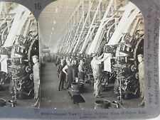 VIEW PRINTING ROOM COTTON MILLS LAWRENCE MASS FROM T-600 SET STEREOVIEW KEYSTONE