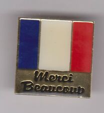 MERCI BEAUCOUP Enamel French Flag Pin