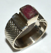 Tourmaline Rough 925 Sterling Silver Ring Jewelry s.6.5 JJ2251