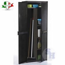 ARMADIO MOBILE MOBILETTO PORTA SCOPE RATTAN RESINA ESTERNO INTERNO 65X45X172 CM