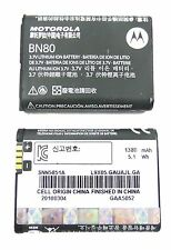 Motorola BN80 Backflip MB300 ENZO ME600 i886 Cellphone Battery SNN5851A 1380mAh