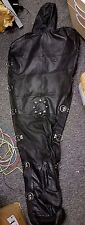 UNIQUE Real Leather sleep sack body bag harness mask hood straight jacket lining