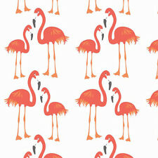 Riley Blake LULA FLAMINGO Tropical Bird Fabric - Orange