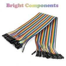40pcs Dupont Jumper Ribbon Cable : 30cm : Female-Female : UK : 1st CLASS POST