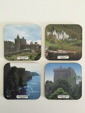 Ireland Souvenir Coasters Set of 4 Blarney Castle Moher Irish Photo Bar Drink