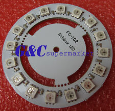Round 16 led WS2812 5050 RGB LED Driver Board Chainable Board for Arduino M63