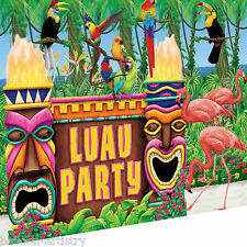 Tropical Tiki Totems Luau Island Summer Party Scene Setter Wall Decorating Kit
