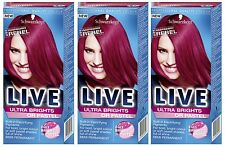 Schwarzkopf Ultra Brights Or Pastel 091 Raspberry Rebel Colour Hair Dye x 3