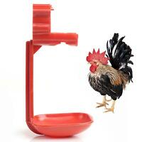 5x Red Color Plastic Poultry Waterer Nipple Drinker For Chicken Duck Bird Quail