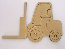 One Wood Wooden Fork Lift Shape MDF 20cm High Kids Craft DIY Paint Mobile