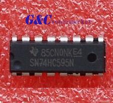 2PCS IC 74HC595 74595 SN74HC595N 8-Bit Shift Register DIP-16  NEW GOOD QUALITY