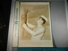 Rare Hist Original VTG 1942 British Able Seaman Bill Peacock Virginia WWII Photo