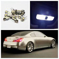 9 x Xenon White LED Light Interior Package Kit for 2007-2012 Infiniti G37 or G35