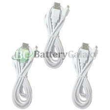 3 White USB 10FT Micro Charger Data Cable for Samsung Rugby 4/LG G4/HTC One M9