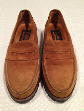TO BOOT by ADAM DERRICK Mens Size 7 BEIGE CAMEL BROWN SUEDE LEATHER LOAFERS