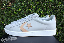 CONVERSE PRO LEATHER 76 TUMBLED SZ 8 LOW TOP PL ASH GREY BEIGE TAN 155666C